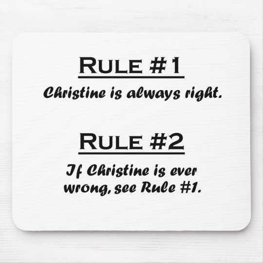 Rule Christine Mouse Pad