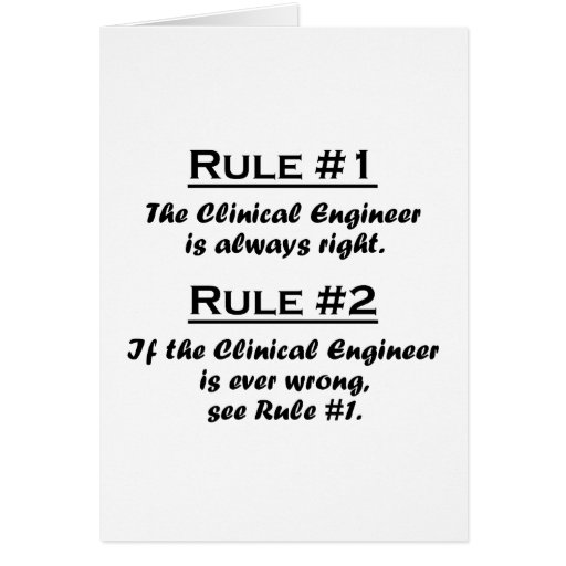 Rule Clinical Engineer Stationery Note Card
