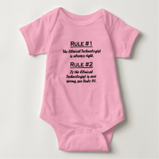 Rule Clinical Technologist Baby Bodysuit