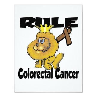 Rule Colorectal Cancer 4.25x5.5 Paper Invitation Card