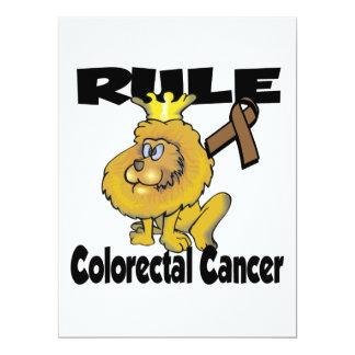 Rule Colorectal Cancer 6.5x8.75 Paper Invitation Card