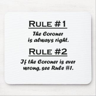 Rule Coroner Mouse Pad