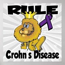 Rule Crohns Disease (purple) Poster