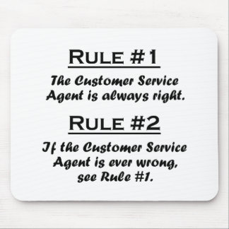 Rule Customer Service Agent Mouse Pad