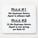 Rule Customer Service Agent Mousepad