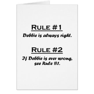 Rule Debbie Card