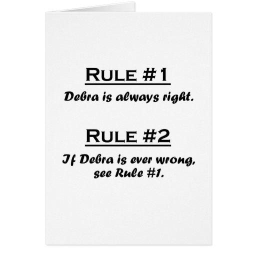 Rule Debra Greeting Card