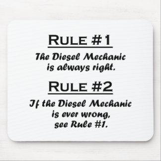 Rule Diesel Mechanic Mouse Pad
