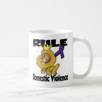 Rule Domestic Violence Classic White Coffee Mug