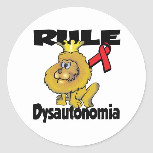 Rule Dysautonomia (red) Classic Round Sticker