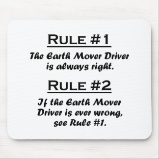 Rule Earth Mover Driver Mouse Pad