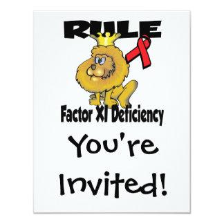 Rule Factor XI Deficiency Card