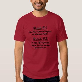 Rule FBI Special Agent Shirt