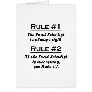 Rule Food Scientist Card