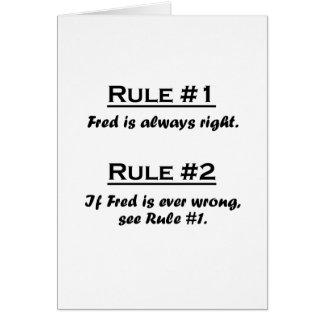 Rule Fred Card