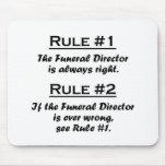 Rule Funeral Director Mousepads