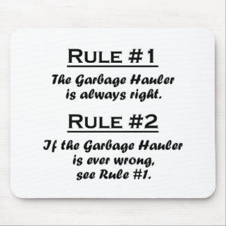 Rule Garbage Hauler Mousepads