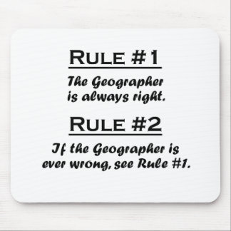 Rule Geographer Mouse Pad