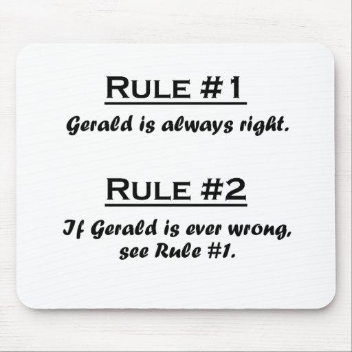 Rule Gerald Mousepad