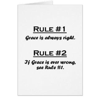 Rule Grace Card