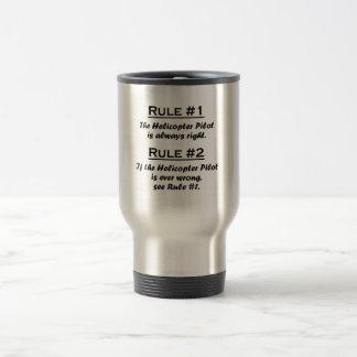 Rule Helicopter Pilot Travel Mug