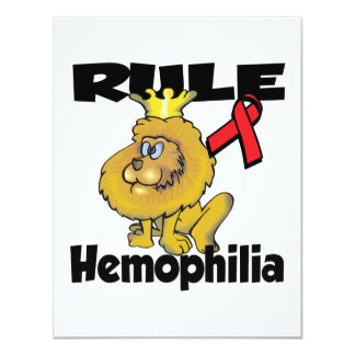 Rule Hemophilia 4.25x5.5 Paper Invitation Card