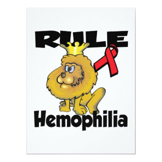 Rule Hemophilia 6.5x8.75 Paper Invitation Card
