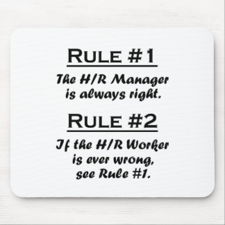Rule Human Resource Manager Mouse Pad