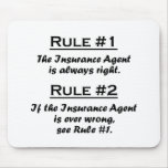 Rule Insurance Agent Mouse Pads