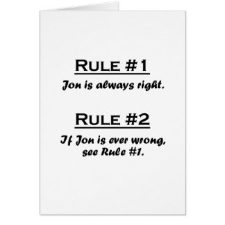 Rule Jon Card