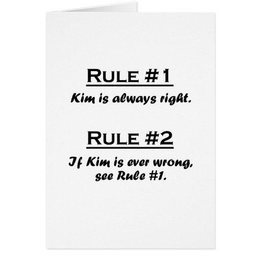 Rule Kim Greeting Card