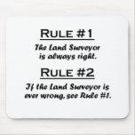 Rule Land Surveyor Mouse Pads