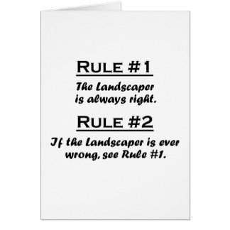 Rule Lanscaper Card
