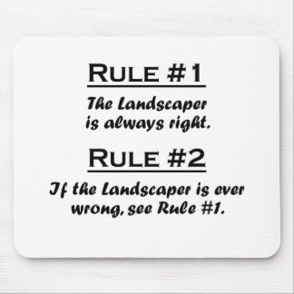 Rule Lanscaper Mouse Pad