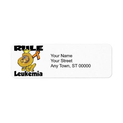 Rule Leukemia (orange) Custom Return Address Label