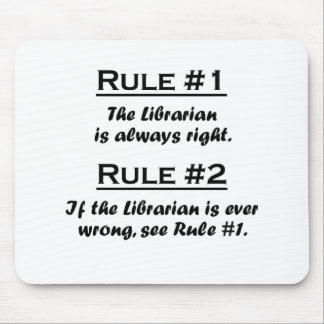 Rule Librarian Mouse Pad