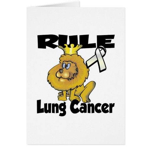 Rule Lung Cancer Greeting Card