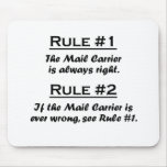 Rule Mail Carrier Mouse Pads