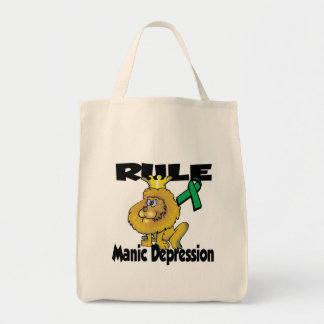 Rule Manic Depression Grocery Tote Bag