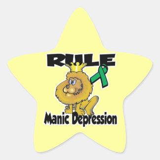 Rule Manic Depression Star Stickers
