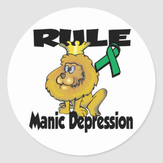 Rule Manic Depression Round Stickers