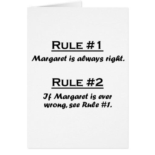 Rule Margaret Greeting Cards