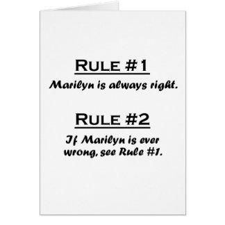 Rule Marilyn Card