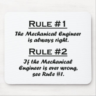 Rule Mechanical Engineer Mouse Pad