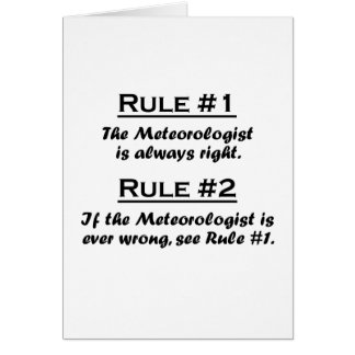Rule Meteorologist Card