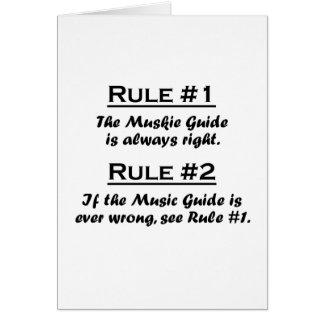 Rule Muskie Guide Card