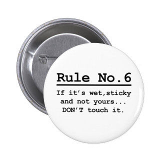 Rule No. 6 2 Inch Round Button