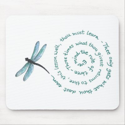 Rule of 3 - Witch's law -Wiccan Rede Mousepads from Zazzle.