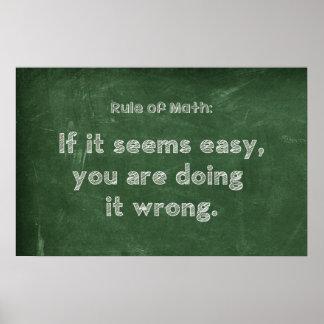 Rule of Math - Math Poster