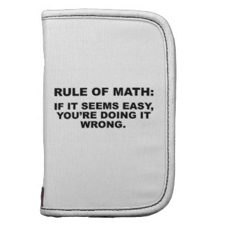 Rule Of Math Organizers